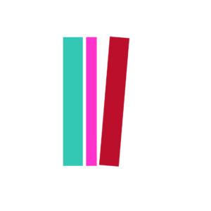 Bokhyllans symbol med tre bokryggar