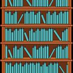 bokhylla fylld med böcker